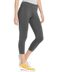 Ideology Cropped Active Leggings Deep Charcoal