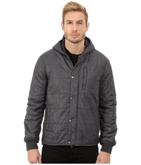 John Varvatos Quilted Sherpa Lined Hooded Lightweight Outerwear Jacket O1292r3b Licorice Men's Coat Multi