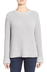 Women's Barbour 'Clove Hitch' Crewneck Sweater Silver Ice