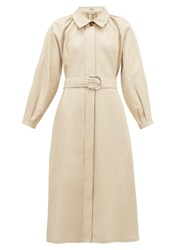Dodo Bar Or Berry Collared Leather Dress Ivory