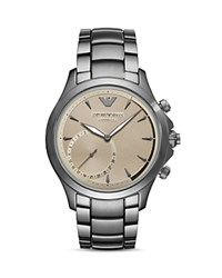 Armani Connected Hybrid Smartwatch 43Mm Beige Silver