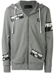 Philipp Plein Logo Patch Sweater Grey