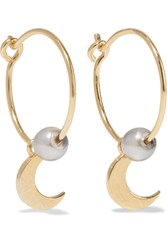 Ileana Makri Iam By Satelite Moon Gold Plated Pearl Earrings