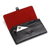 Aspinal Of London Travel Classic Wallet Black Lizard