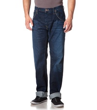 Pepe Jeans Relaxed Fit Jeans Dark Blue Bleached Denim