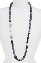Women's Simon Sebbag Hammered Station Bead Necklace