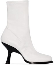 Simon Miller 90 Stretch Ankle Boots White
