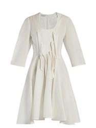 J.W.Anderson Knotted Ties Balloon Sleeved Dress White