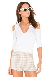 Feel The Piece Claremont Cold Shoulder Top White