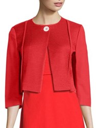 Piazza Sempione Cotton Cropped Jacket Red