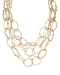 Aqua Beaded Layered Link Necklace 18 100 Exclusive Natural
