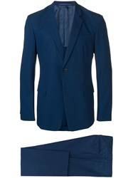 Prada Two Button Suit Blue
