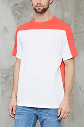 Forever 21 Cotton Blend Colorblock Tee