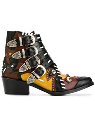 Toga Pulla Buckle Strap Ankle Boots Women Leather 36