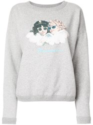 Fiorucci Vintage Angels Sweatshirt Cotton Grey