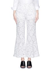 Chictopia Floral Guipure Lace Flare Pants White