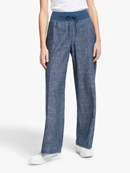 Eileen Fisher Denim Linen Trousers Blue