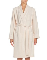 Lord And Taylor Waffle Knit Robe Pink