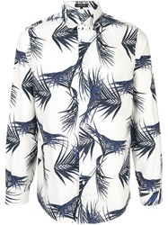 Loveless Palm Print Shirt White