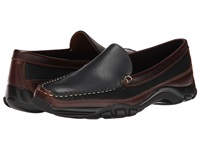 Allen Edmonds Boulder Black Saddle Leather Brown Trim Men's Slip On Shoes