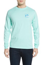 Men's Southern Tide 'Skipjack' Long Sleeve Graphic T Shirt Offshore Green
