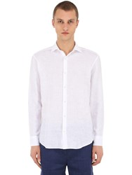 Frescobol Carioca Regular Fit Linen Shirt White
