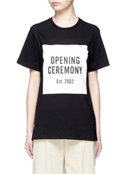 Opening Ceremony 'Oc' Mirrored Logo T Shirt Black