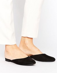 New Look Suedette Flat Mule Black