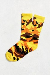Urban Outfitters Colorful Camo Sport Sock Orange