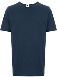 Bassike Round Neck T Shirt Blue