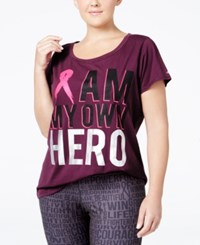 Ideology Plus Size Pink Ribbon Graphic T Shirt Only At Macy's Sweet Fig