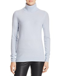 Bloomingdale's C By Cashmere Turtleneck Sweater Sky Blue