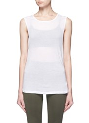 Koral 'Aura' Crisscross Back Tank Top White