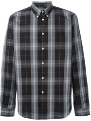 Paul Smith Ps By Button Down Plaid Shirt Black
