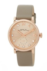 Marc Jacobs Women's Baker Crystal Embellished Leather Strap Watch Brown