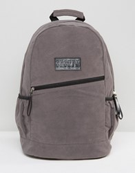 Systvm Backpack In Grey Faux Suede Grey