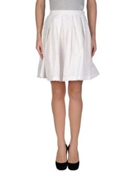 Aimo Richly Knee Length Skirts White