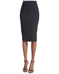 Victoria Beckham Hexagon Fitted Pencil Skirt Black