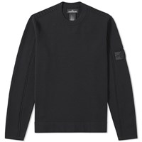 Stone Island Shadow Project Stretch Wool Intarsia Crew Green