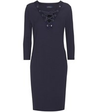 Polo Ralph Lauren Rib Knitted Dress Blue