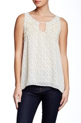 Max Studio Printed A Line Blouse Beige