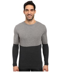 Prana Color Block Sweater Charcoal Men's Sweater Gray