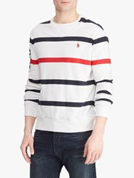 Ralph Lauren Polo Striped Terry Pullover Red Multi