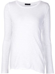 Atm Anthony Thomas Melillo Asymmetric Hem Longsleeved T Shirt White