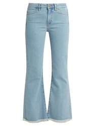 Mih Jeans Lou High Rise Flared Cropped Light Denim