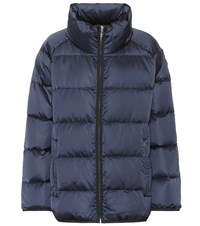 Tory Sport Quilted Down Coat Blue