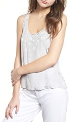 Chelsea 28 Chelsea28 Jacquard Side Button Tank Grey Micro