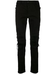Marcelo Burlon County Of Milan Biker Jeans Black