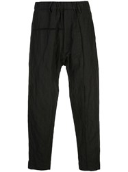 Ziggy Chen Loose Fit Trousers Black