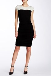 Weston Wear Jeri Two Tone Ruched Dress Black